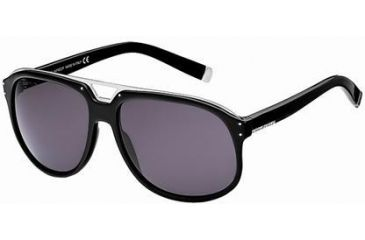 Dsquared DQ0005 Sunglasses - Shiny Black Frame Color, Smoke Lens Color