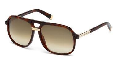 DSquared DQ0071 Sunglasses - Dark Havana Frame Color