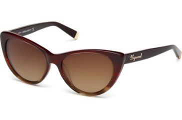 DSquared DQ0079 Sunglasses - Bordeaux Frame Color, Gradient Brown Lens Color