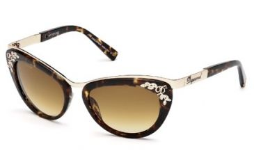 DSquared DQ0096 Sunglasses - Dark Havana Frame Color