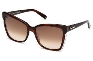 DSquared DQ0098 Sunglasses - Dark Havana Frame Color