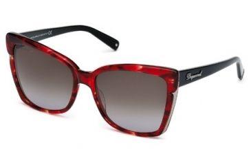 DSquared DQ0098 Sunglasses - Shiny Bordeaux Frame Color