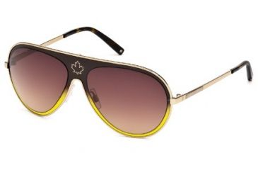 DSquared DQ0104 Sunglasses - Dark Brown Frame Color, Gradient Brown Lens Color