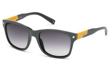 DSquared DQ0105 Sunglasses - Grey Frame Color, Gradient Smoke Lens Color