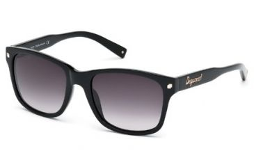 DSquared DQ0105 Sunglasses - Shiny Black Frame Color, Gradient Smoke Lens Color