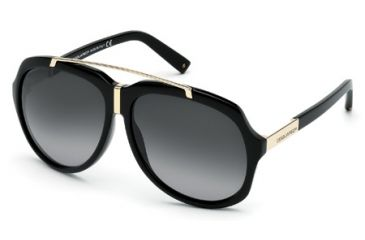 DSquared DQ0110 Sunglasses - Shiny Black Frame Color