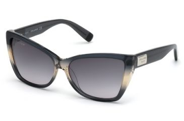 DSquared DQ0129 Sunglasses - Grey Frame Color, Gradient Smoke Lens Color