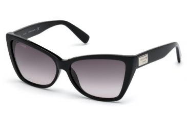 DSquared DQ0129 Sunglasses - Shiny Black Frame Color, Gradient Smoke Lens Color