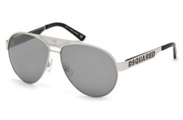 DSquared DQ0138 Sunglasses - Grey Frame Color, Smoke Mirror Lens Color