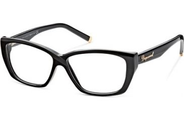 DSquared DQ5063 Progressive Prescription Eyeglasses - Frame 001, Size 54 DQ506354001