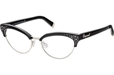 DSquared DQ5064 Eyeglass Frames - Shiny Black Frame Color