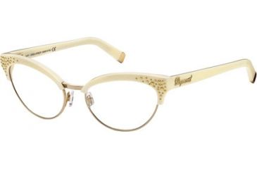 DSquared DQ5064 Eyeglass Frames - Ivory Frame Color