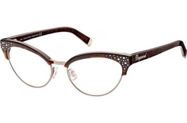 DSquared DQ5064 Eyeglass Frames - Dark Havana Frame Color