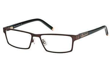 DSquared DQ5070 Eyeglass Frames - Matte Dark Brown Frame Color