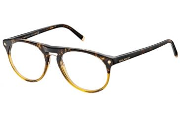 DSquared DQ5074 Eyeglass Frames - Black/Crystal Frame Color