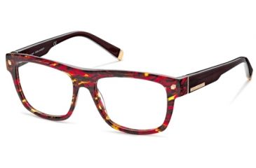 DSquared DQ5076 Eyeglass Frames - Coloured Havana Frame Color