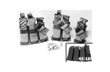 BlackHawk Duty Quad Pistol Mag Pouch With Talon Flex (Black) 52PMK6BK