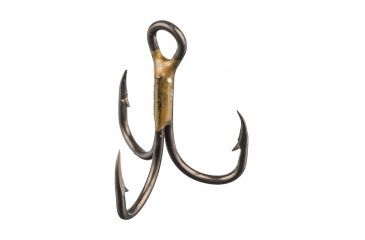 3-Eagle Claw 2x Double and Treble Hook, Curved Point