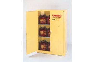 Eagle Manufacturing Flammable Liquids Safety Storage Cabinets, Eagle Manufacturing 1905 Floor Cabinet, 1 Self-Closing Door, 1 Shelf