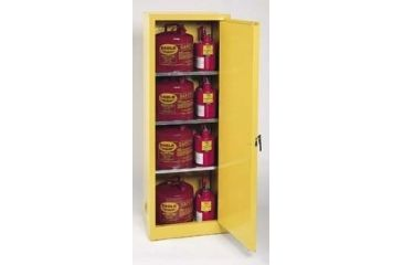 Eagle Manufacturing Space-Saver Flammable Liquids Storage Cabinets, Vertical, Eagle Manufacturing 1923 Space Saver Cabinet, Manual Closing Door