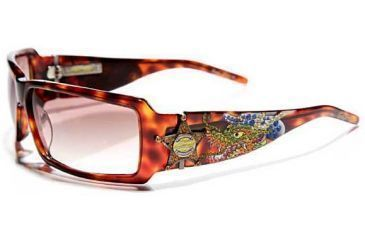 Ed Hardy Sheriff Dragon Sunglasses - Tortoise Frame, Brown Lens