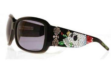 Ed Hardy Skull & Roses Crystal Sunglasses EHS-001