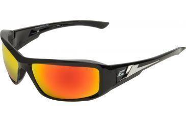 Edge Eyewear Brazeau Safety Glasses Black Frame Aqua Precision Red Mirror Lens Xbap119