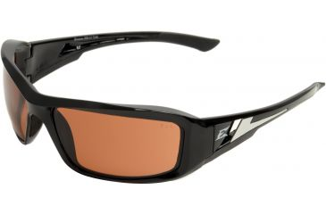 Edge Eyewear Brazeau Safety Glasses Black Frame Copper Driving Lens Polarized Txb215