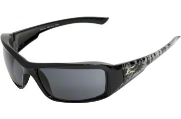 Edge Eyewear Brazeau Safety Glasses Black Gargoyle Frame Smoke Lens Xb116 G