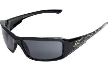 Edge Eyewear Brazeau Safety Glasses Black Shark Frame Smoke Lens Xb116 K