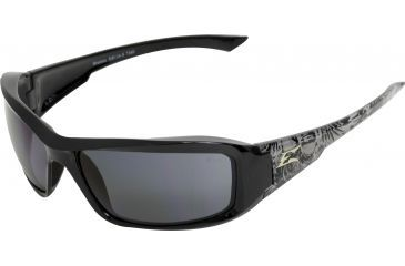 Edge Eyewear Brazeau Safety Glasses Black Skull Frame Smoke Lens Polarized Txb216 S