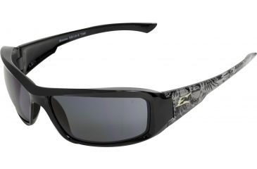 Edge Eyewear Brazeau Safety Glasses Black Skull Frame Smoke Lens Xb116 S