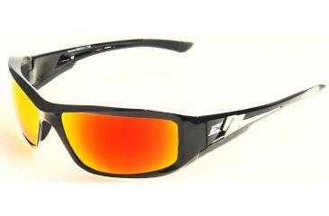 Brazeau Safety Glasses - Black Frame, Aqua Precision Red Mirror Lens XBAP119