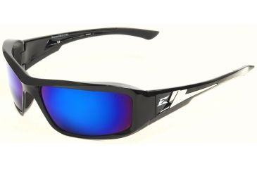 Brazeau Safety Glasses - Black Frame, Blue Mirror Lens XB118