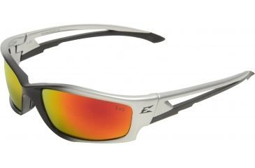 Edge Eyewear Kazbek Safety Glasses Black Frame Aqua Precision Red Mirror Lens Skap119
