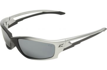 Edge Eyewear Kazbek Safety Glasses Black Frame Silver Mirror Lens Sk117