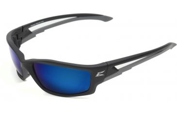 Kazbek - Black Frame - Polarized Aqua Precision Blue Mirror Lens TSKAP218