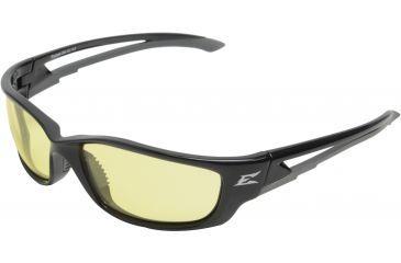 Edge Eyewear Kazbek Xl Safety Glasses Black Frame Yellow Lens Sk Xl112