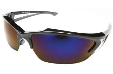Edge Eyewear Khor Safety Glasses Black Frame Blue Mirror Lens Sdk118
