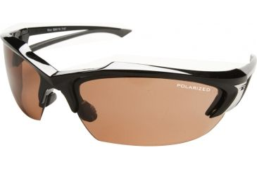 Edge Eyewear Khor Safety Glasses Black Frame Polarized Copper Driving Lens Tsdk215