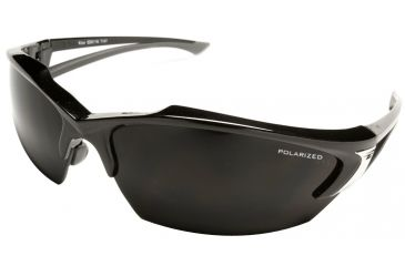 Edge Eyewear Khor Safety Glasses Black Frame Polarized Smoke Lens Tsdk216