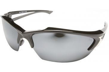 Edge Eyewear Khor Safety Glasses Black Frame Silver Mirror Lens Sdk117