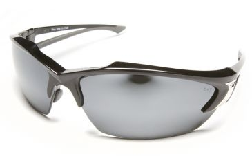 Edge Eyewear Khor Safety Glasses - Black Frame, Silver Mirror Lens SDK117