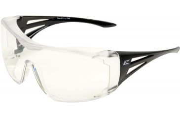 Edge Eyewear Ossa Fit Over Safety Glasses Black Frame Large Clear Lens Xf111 L