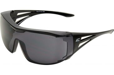 Edge Eyewear Ossa Fit Over Safety Glasses Black Frame Large Smoke Lens Xf116 L