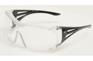 Ossa Fit Over Safety Glasses - Black Frame, Large Clear Lens XF111-L