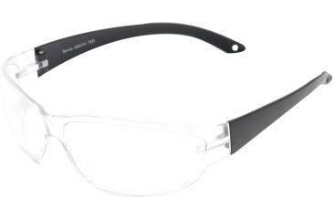 Edge Eyewear Savoia Safety Glasses Black Frame Clear Lens Ake111