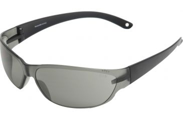 Edge Eyewear Savoia Safety Glasses Black Frame Smoke Lens Ake116