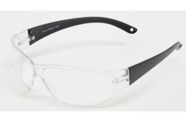 Edge Eyewear Savoia Safety Glasses - Black Frame, Clear Lens AKE111
