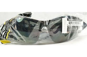 Edge Eyewear Zorge Magnifier Safety Glasses - Black Frame, Smoke Lens, 2.0 Polarized TDZ216-2.0